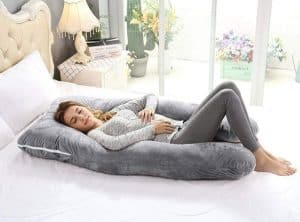 AngQi U Shaped Full Body Pregnancy Pillow
