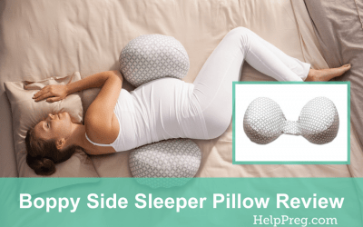 Boppy Side Sleeper Pillow Review [ Back & Belly ]