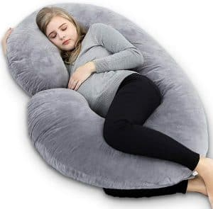 INSEN C Shaped Maternity Pillow With Cover